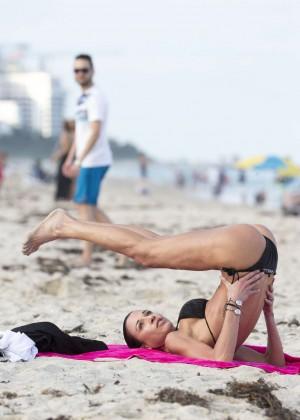 Federica Torti Black Bikini Photos: 2014 in Miami -19