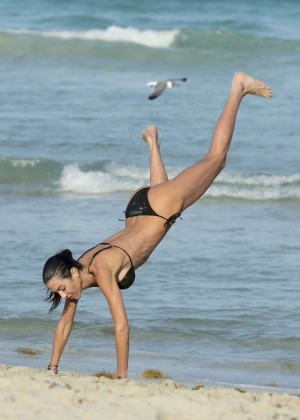Federica Torti Black Bikini Photos: 2014 in Miami -20