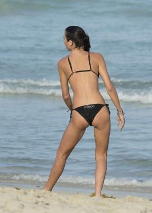 Federica Torti Black Bikini Photos: 2014 in Miami -22