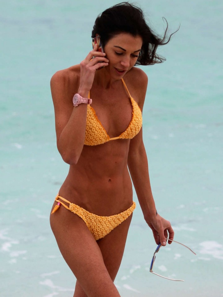 Federica Torti Yellow Bikini Photos: 2014 in Miami -01