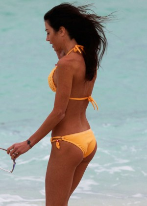 Federica Torti Yellow Bikini Photos: 2014 in Miami -02