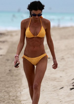Federica Torti Yellow Bikini Photos: 2014 in Miami -03