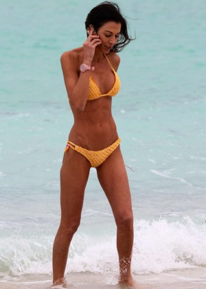 Federica Torti Yellow Bikini Photos: 2014 in Miami -06
