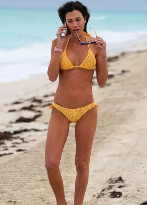 Federica Torti Yellow Bikini Photos: 2014 in Miami -07