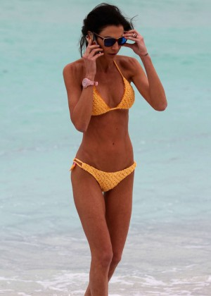 Federica Torti Yellow Bikini Photos: 2014 in Miami -08
