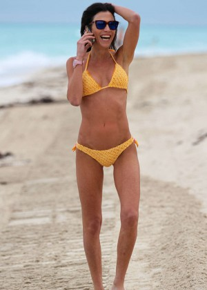 Federica Torti Yellow Bikini Photos: 2014 in Miami -09