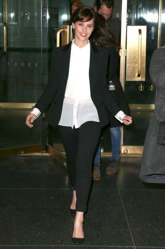 Felicity Jones - Arriving at Today Show in NYC
