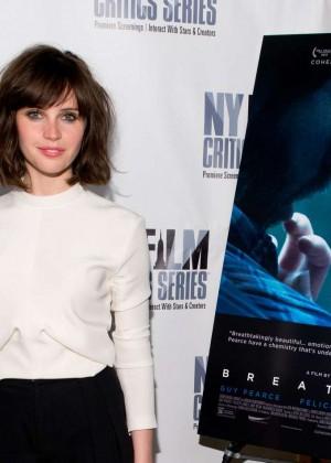 Felicity Jones: Breathe In NY Premiere -09