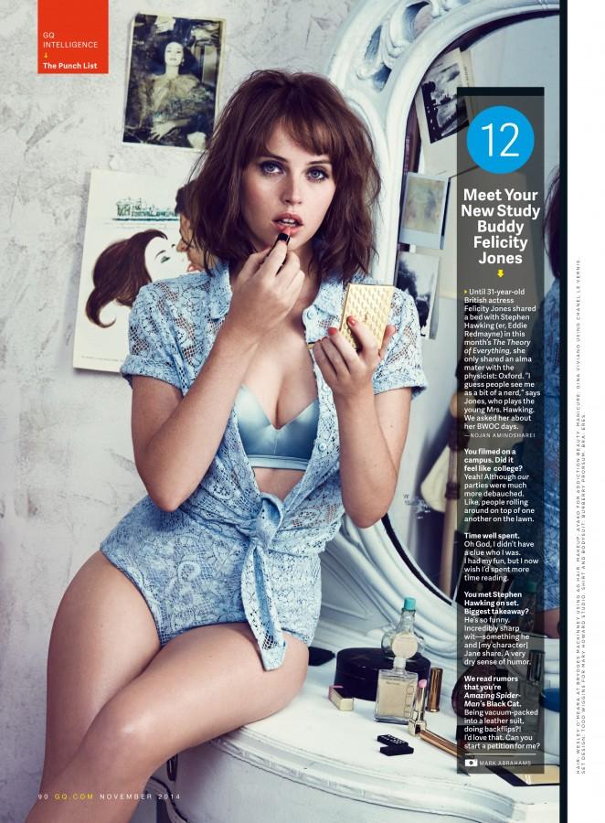 Felicity Jones - GQ Magazine (November 2014)