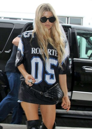 Fergie Arriving at LAX Airport in Los Angeles