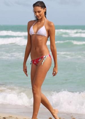 Fernanda Uesler Bikini Photos: 2014 at Miami Beach -02