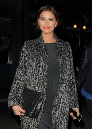 Ferne McCann at The Riding House Cafe in London