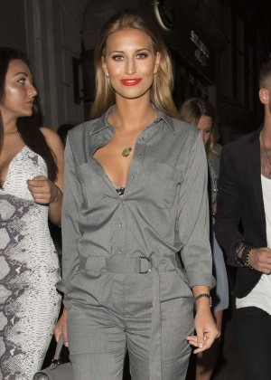 Ferne McCann - Leaves Cafe de Paris in London