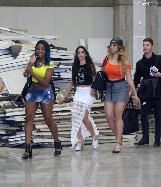 Fifth Harmony at Airport Galeao in Rio de Janeiro, Brazil