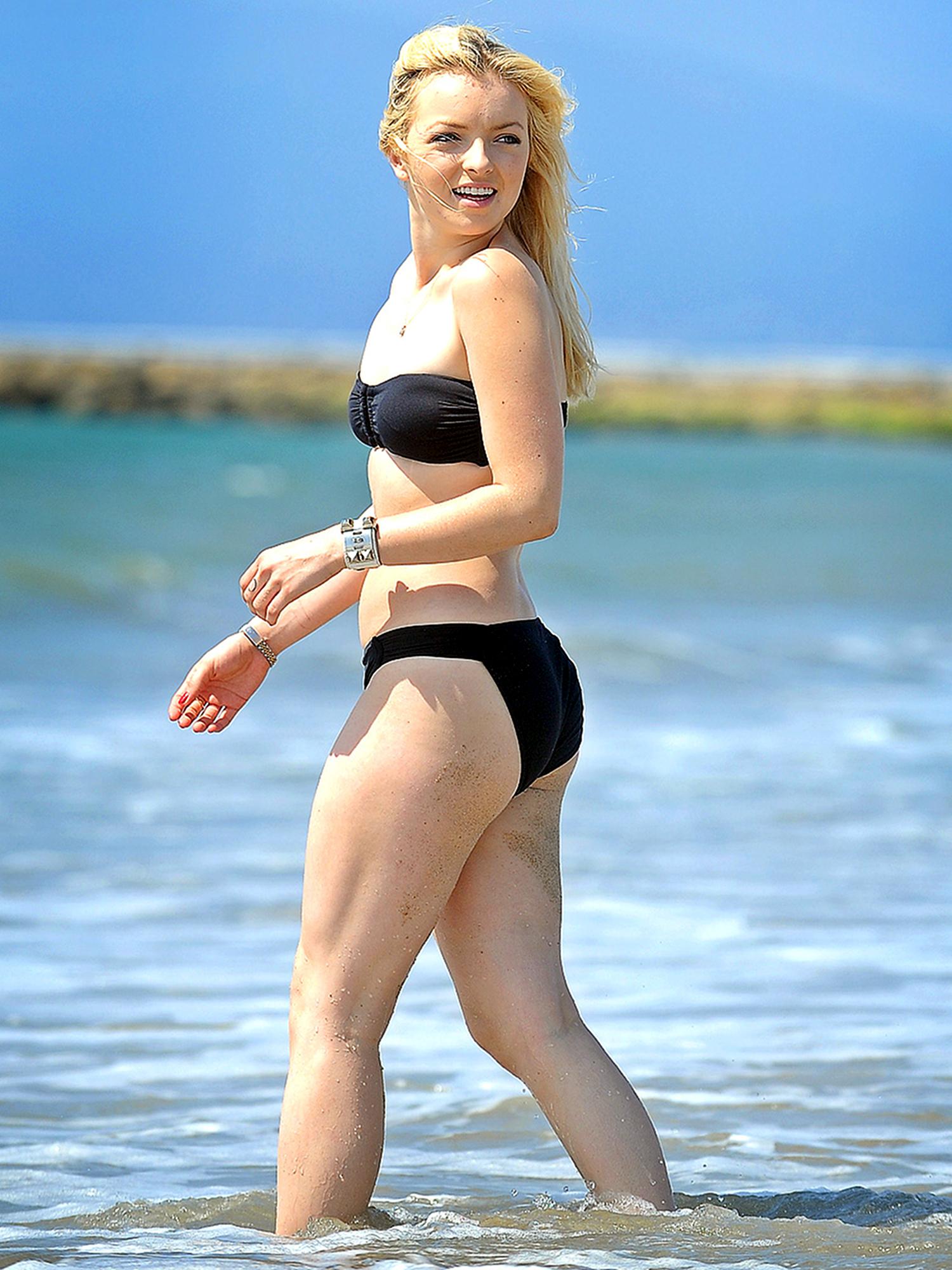 Francesca Eastwood 2013 : Francesca Eastwood – Black bikini in California -03