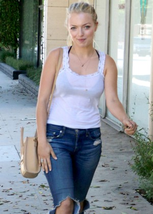 Francesca Eastwood seen out with a friend in Beverly Hills