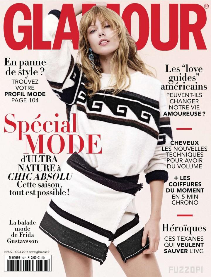 Frida Gustavsson – Glamour France Cover (October 2014)