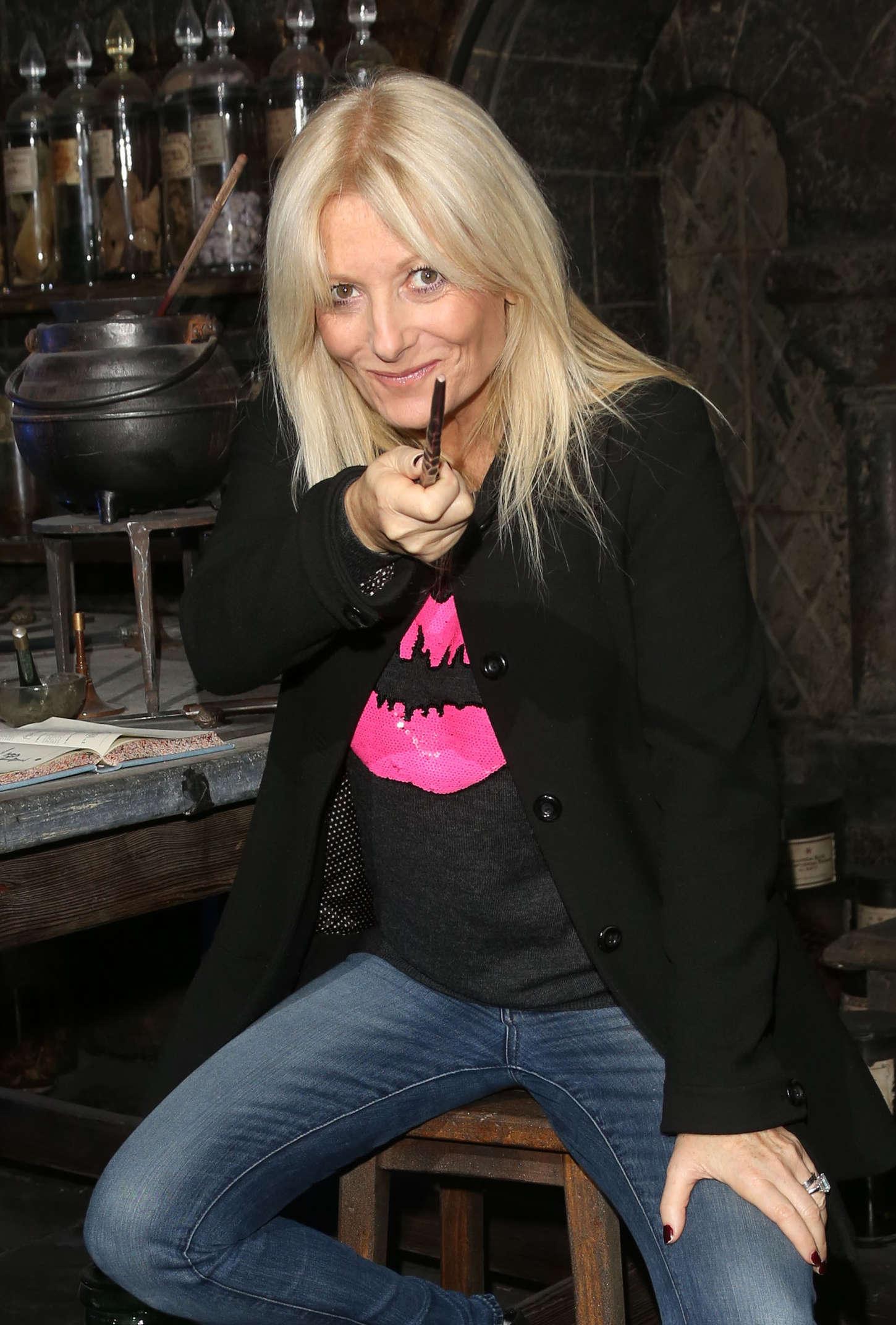 Gaby Roslin At Dark Arts Launch Harry Potter Tour Gotceleb