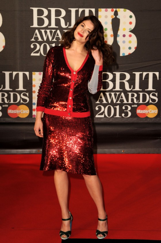 Gemma Arterton attends the Brit Awards at 02 Arena in London -03