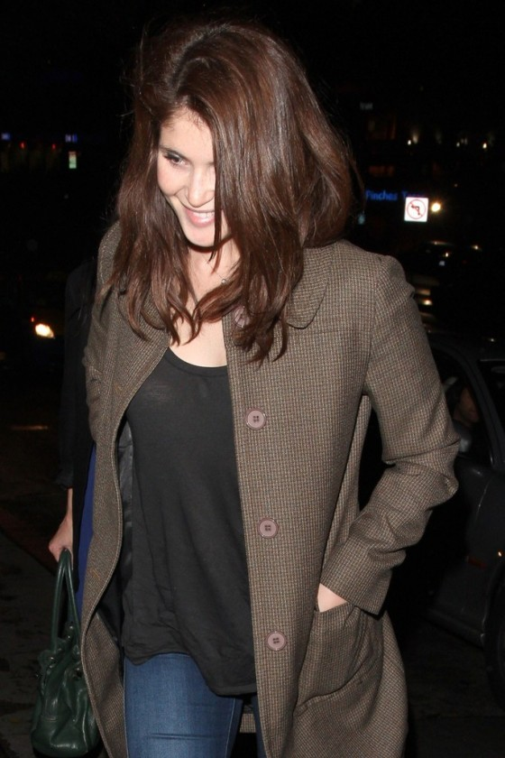 Gemma Arterton in Tight Jeans at the Chateau Marmont in West Hollywood 1/25/13