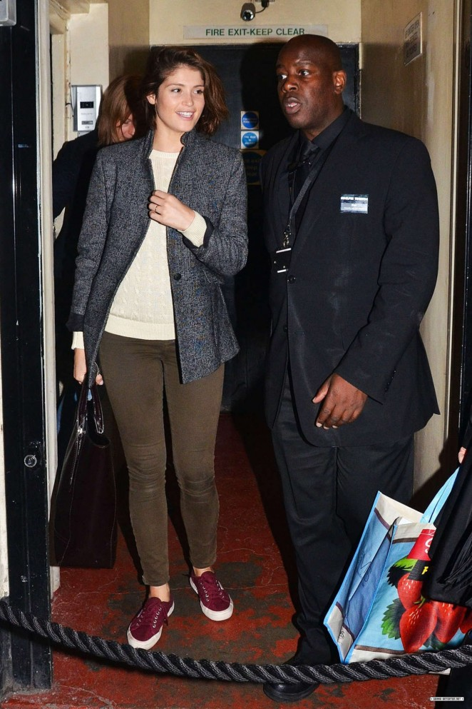 Gemma Arterton: Stage Door of the Adelphi Theatre -03