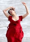 Gemma Arterton - Cleavage and Leggy On The Set Of Byzantium-10