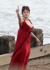 Gemma Arterton - Cleavage and Leggy On The Set Of Byzantium-17