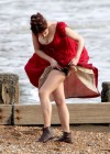 Gemma Arterton - Cleavage and Leggy On The Set Of Byzantium-18