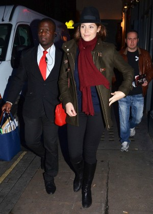 Gemma Arterton - Leaving Adelphi Theatre in London