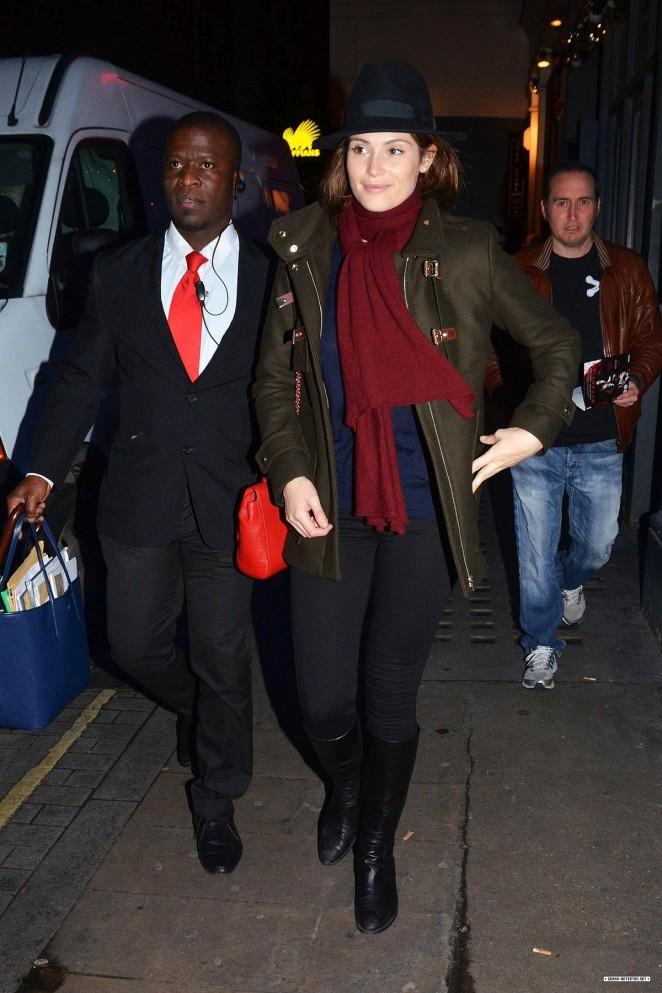 Gemma Arterton - Leaving Adelphi Theatre in London