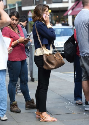 Gemma Arterton in Tight Pants out in Chelsea