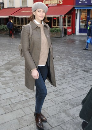Gemma Arterton Street Style - out in London