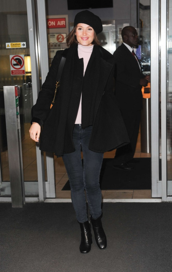 Gemma Arterton - Leaving BBC Radio 2 in London