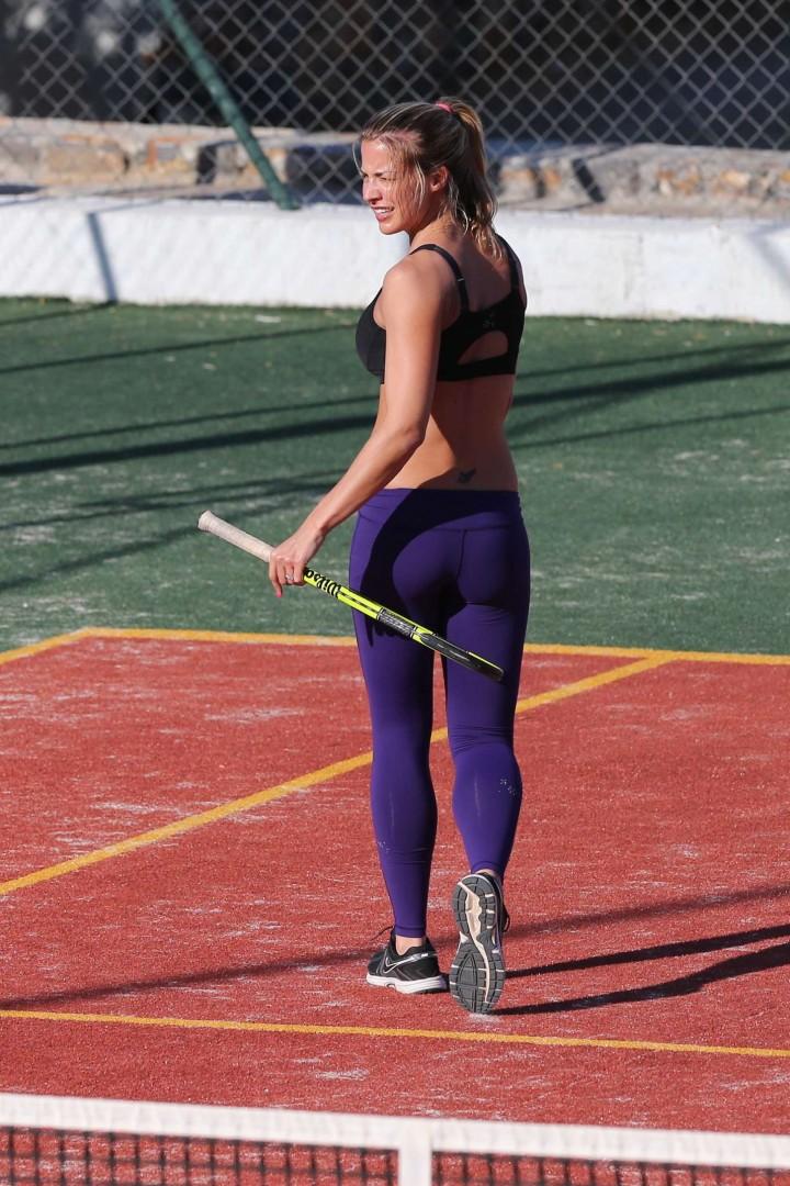 Gemma Atkinson In Purple Tights 03 Gotceleb