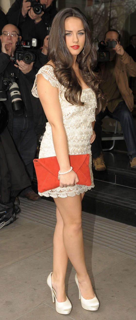 Georgia May Foote Show her legs in white mini dres at TRIC Awards-05 ...