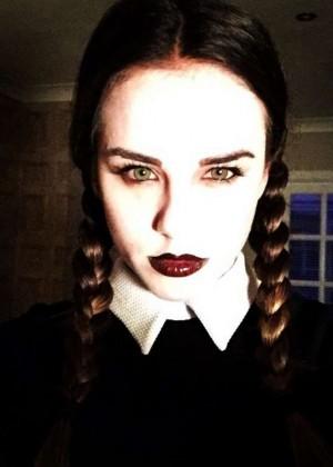 Georgia May Foote - Halloween instagram Pics
