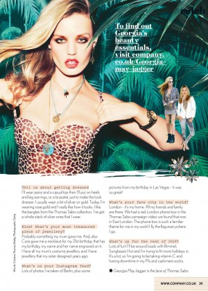 Georgia May Jagger - Company UK Magazine (April 2014)