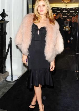 Georgia May Jagger in Black Dress Leaving Thomas Sabo Store in London