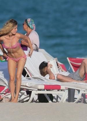 Georgia May Jagger Bikini Photos: 2014 in Miami -18
