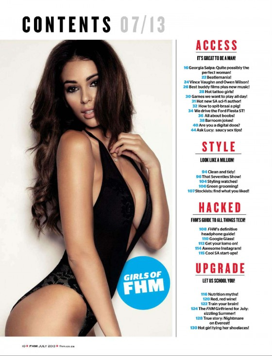 Georgia Salpa - FHM Magazine (South Africa - July 2013)-02