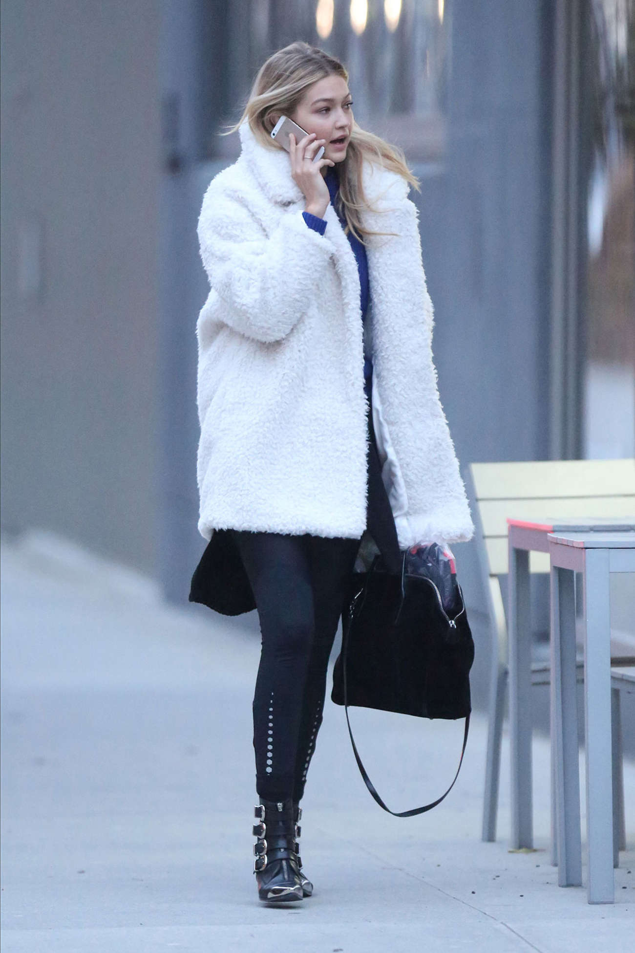 Gigi Hadid 2014 : Gigi Hadid in Mini Skirt -07