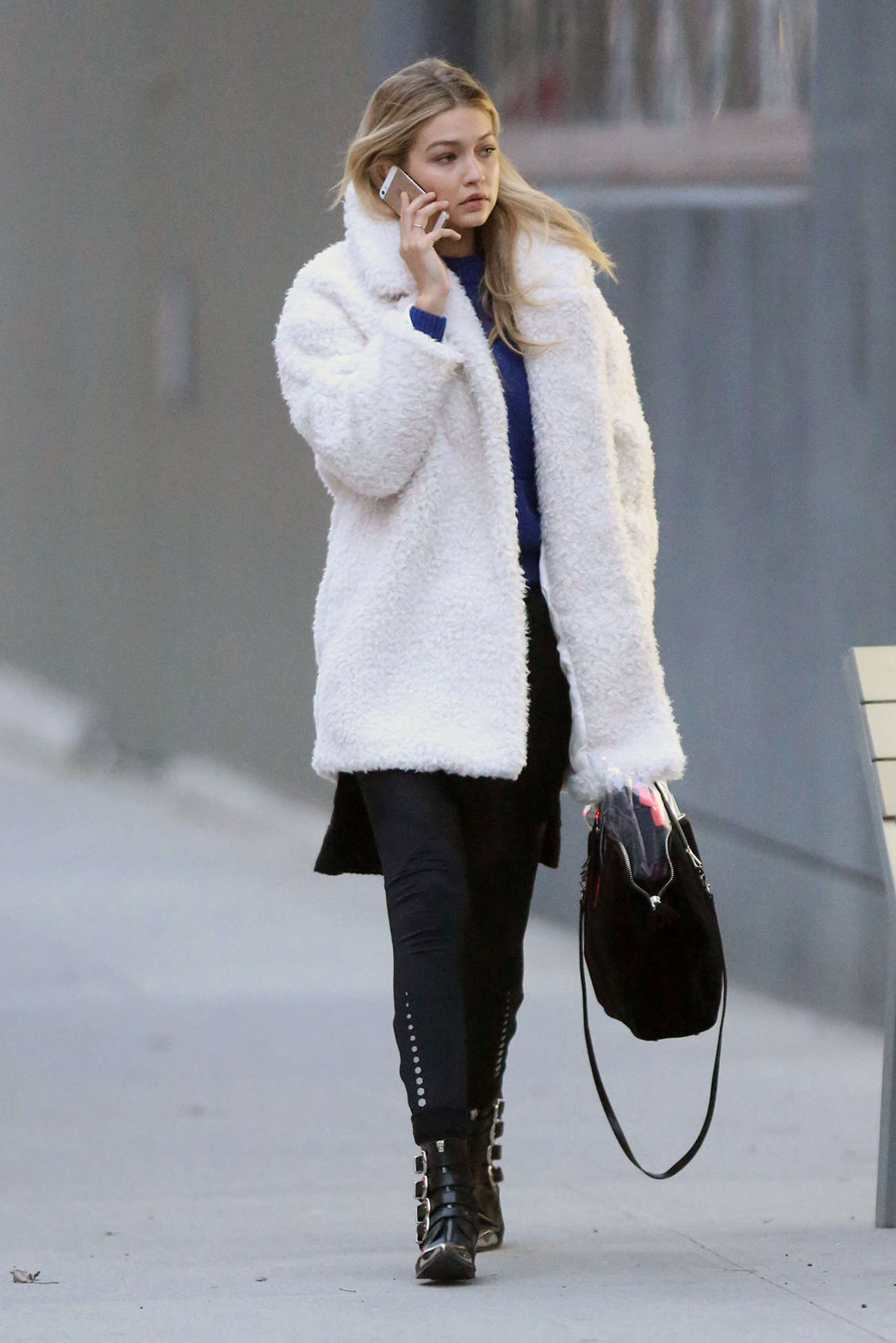 Gigi Hadid 2014 : Gigi Hadid in Mini Skirt -12