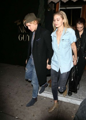 Gigi Hadid & Cody Simpson Leaving Brittny Gastineau Party in Hollywood