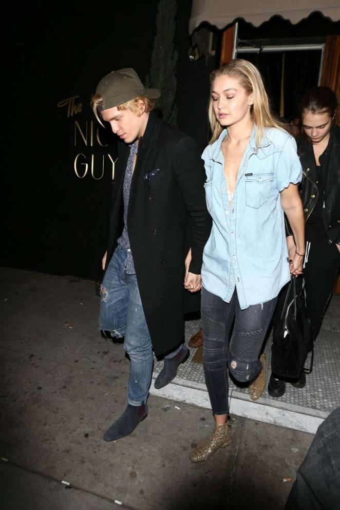 Gigi Hadid & Cody Simpson Leaving Brittny Gastineau Party in Hollywood