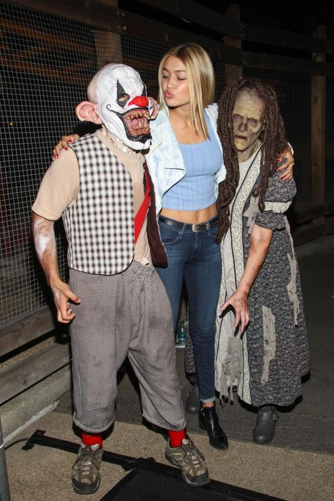 Gigi Hadid - Knott's Scary Farm Opening Night in Buena Park
