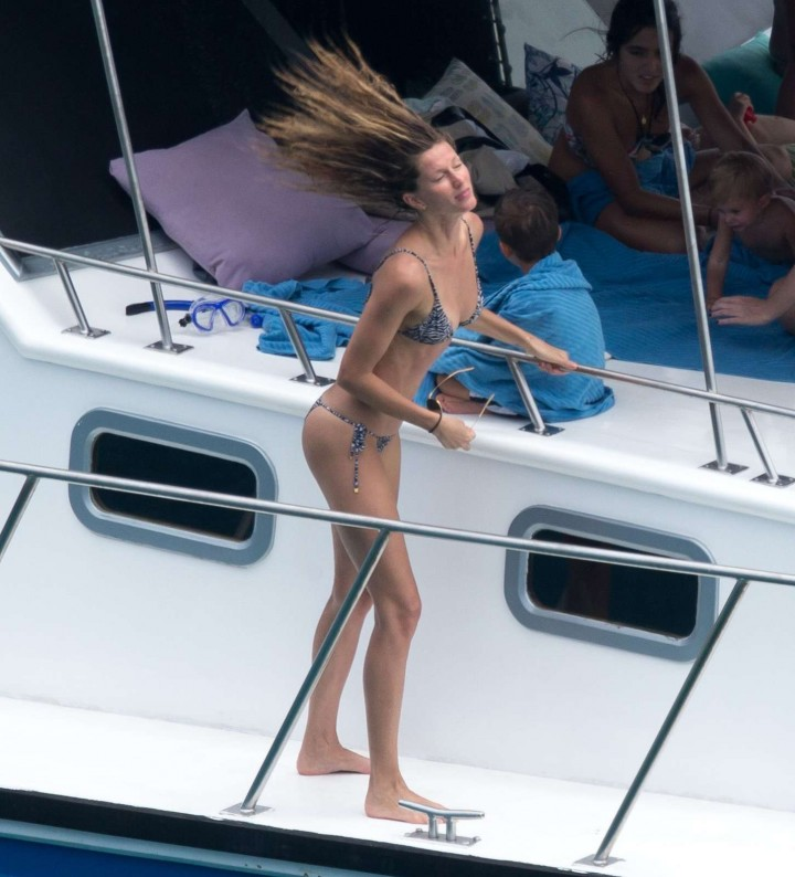 Gisele Bundchen Bikini Photos: 2014 in Brazil -04