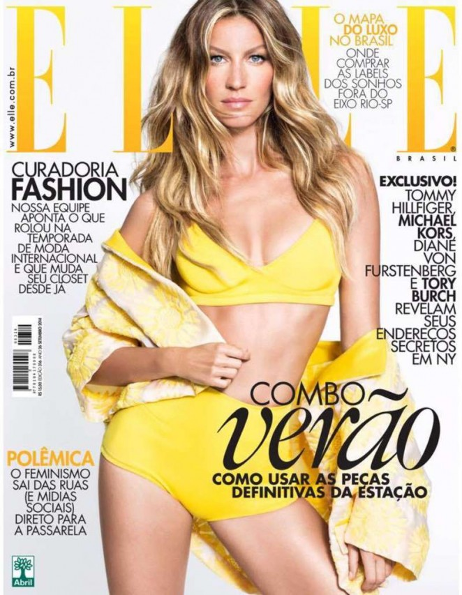 Gisele Bundchen - Elle Brazil Magazine Cover (November 2014)