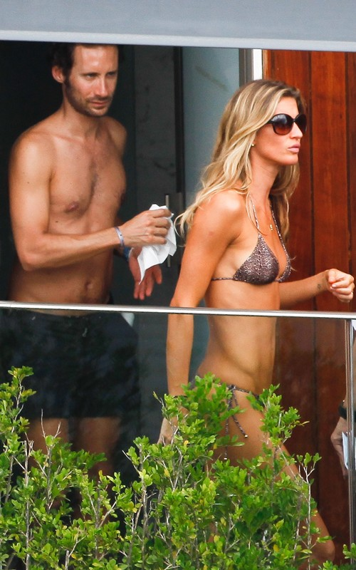 Gisele Bundchen - in a bikini on her in Rio de Janerio