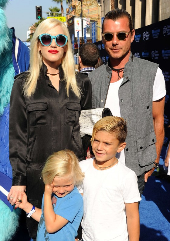 Gwen Stefani with family at Monsters University premiere -06