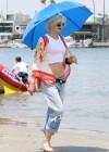 Gwen Stefani - At the beach in Long Beach -08